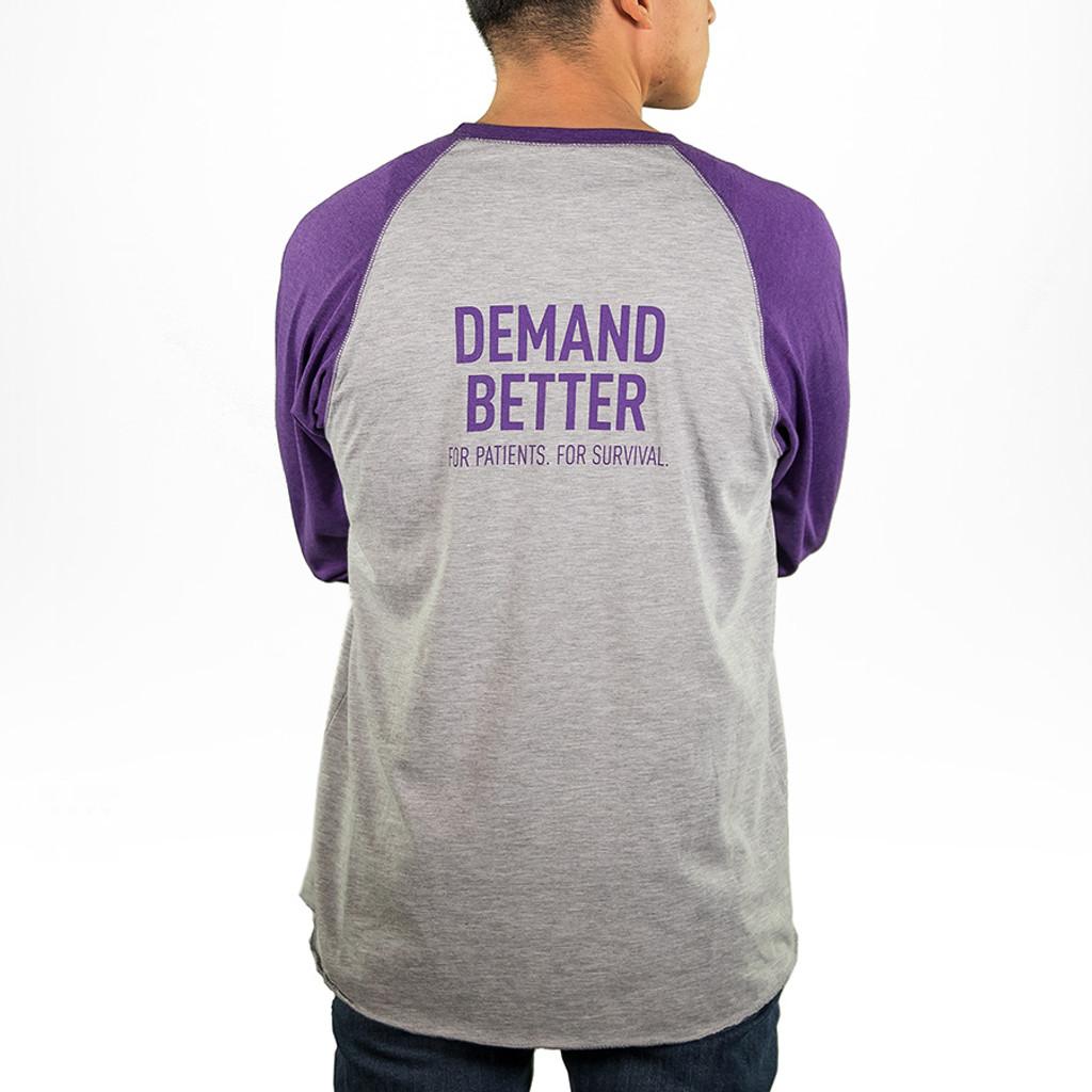 Demand Better Pancreatic Cancer Awareness Baseball Shirt Unisex For Him