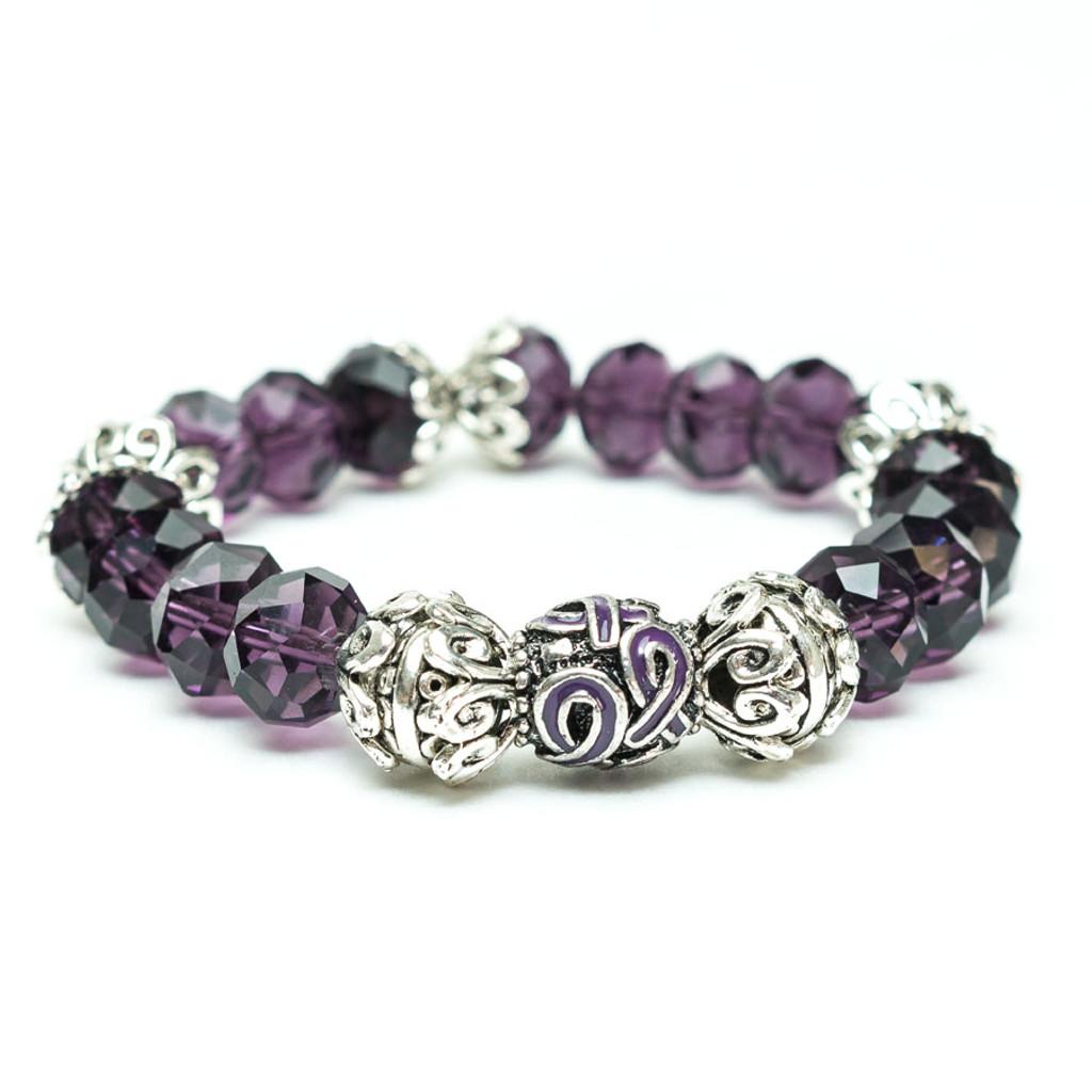 Suzanne Ribbon Pancreatic Cancer Awareness Bracelet