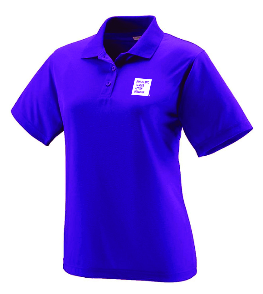 Pancreatic Cancer Awareness Purple Augusta Polo Shirt/Ladies