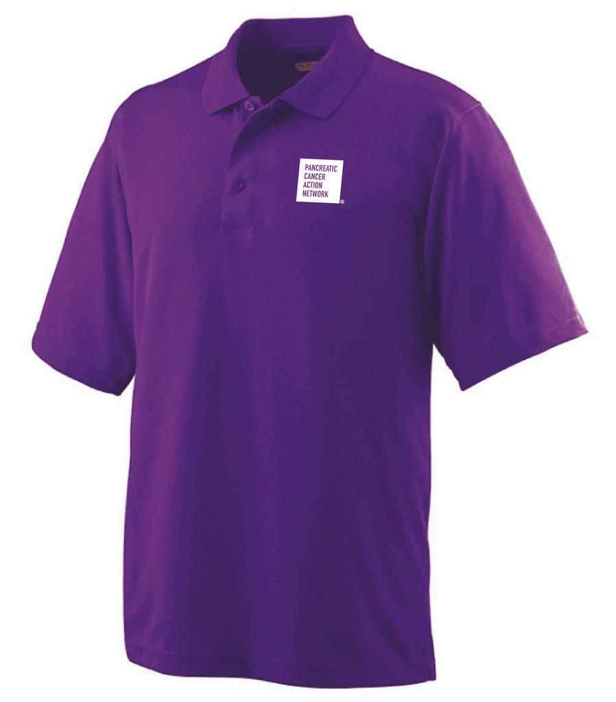 Pancreatic Cancer Awareness Purple Augusta Polo Shirt/Men's
