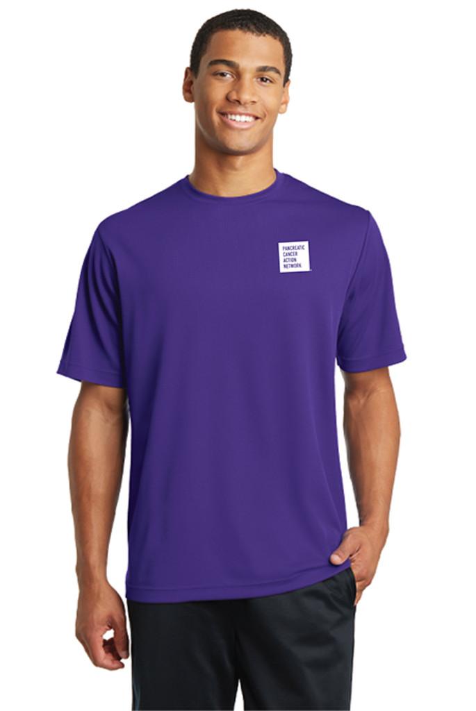 Pancreatic Cancer Awareness Purple RacerMesh Tee – Men's