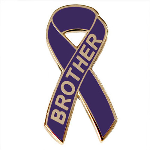 Pancreatic Cancer Awareness Lapel Pin - Brother