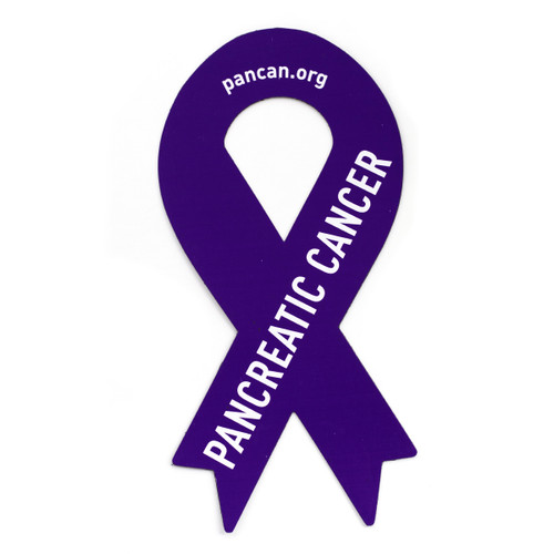 Pancreatic Cancer Awareness Ribbon Car Magnet