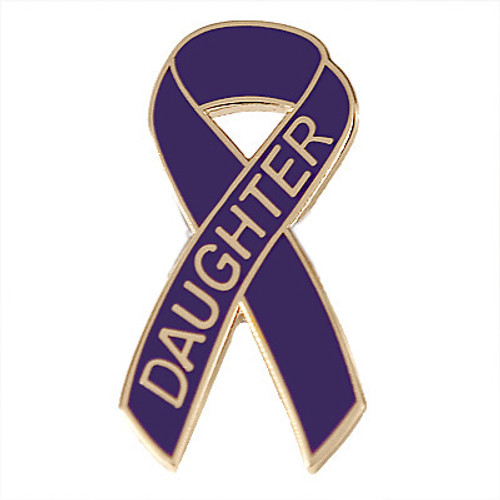 Pancreatic Cancer Awareness Lapel Pin - Daughter
