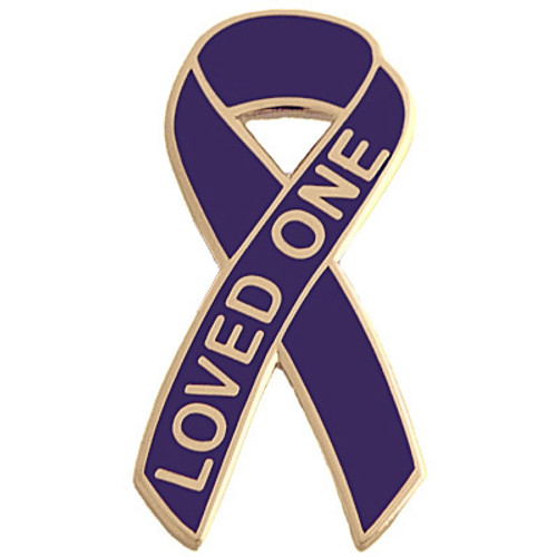 Pancreatic Cancer Awareness Lapel Pin - Loved One