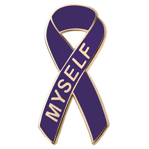 Pancreatic Cancer Awareness Lapel Pin - Myself