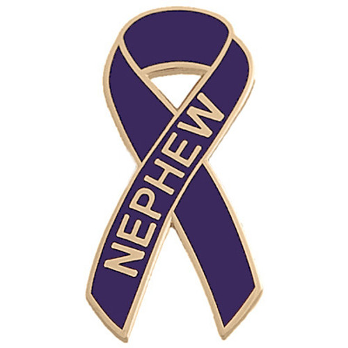 Pancreatic Cancer Awareness Lapel Pin - Nephew