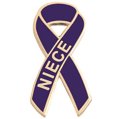 Pancreatic Cancer Awareness Lapel Pin - Niece