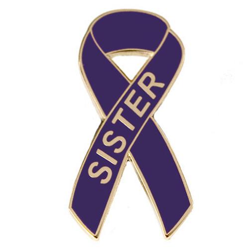 Pancreatic Cancer Awareness Lapel Pin - Sister