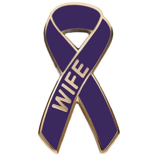 Pancreatic Cancer Awareness Lapel Pin - Wife