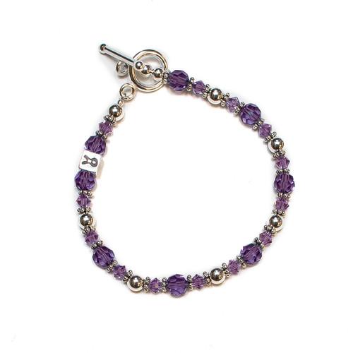 Naomi Sterling Silver Pancreatic  Cancer Awareness Bracelet