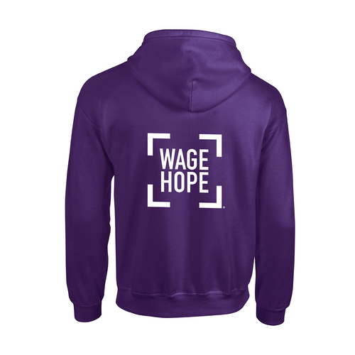 Pancreatic Cancer Awareness Wage Hope Zippered Hoodie/Unisex/For Him