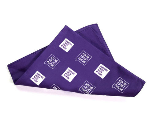 Pancreatic Cancer Awareness Bandana - Ask Me About PanCAN