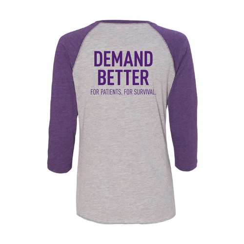 Demand Better Pancreatic Cancer Awareness Baseball Shirt Unisex For Her