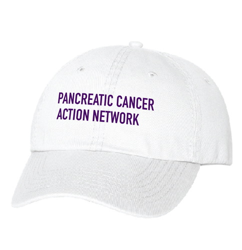 Pancreatic Cancer Awareness Headwear – White Twill hat