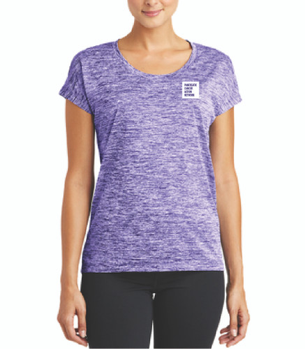 Pancreatic Cancer Awareness Ladies Purple Heather Sporty Tee