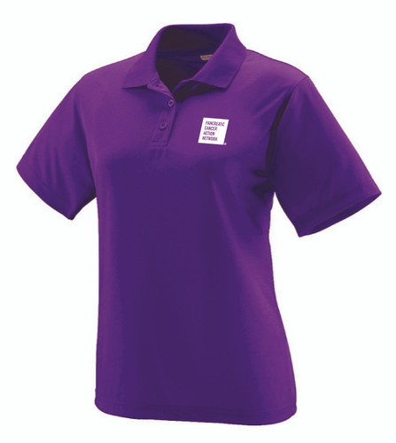 Pancreatic Cancer Awareness Purple Augusta Polo Shirt/Ladies