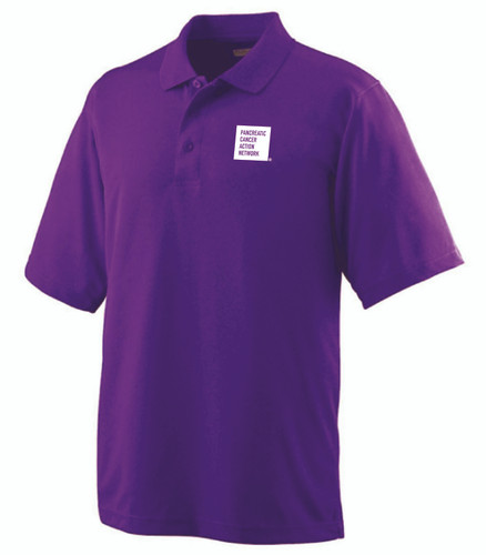 Pancreatic Cancer Awareness Purple Augusta Polo Shirt/Men's