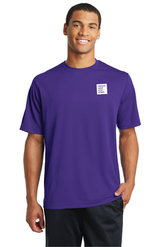 Pancreatic Cancer Awareness Purple RacerMesh Tee – Men's