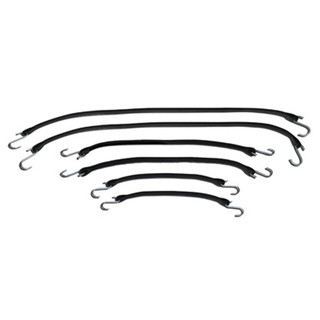 "6-piece Rubber Tarp Strap Kit - Includes 2 each of 15"",  21"", and 31"" H-91339 Shurtrax"
