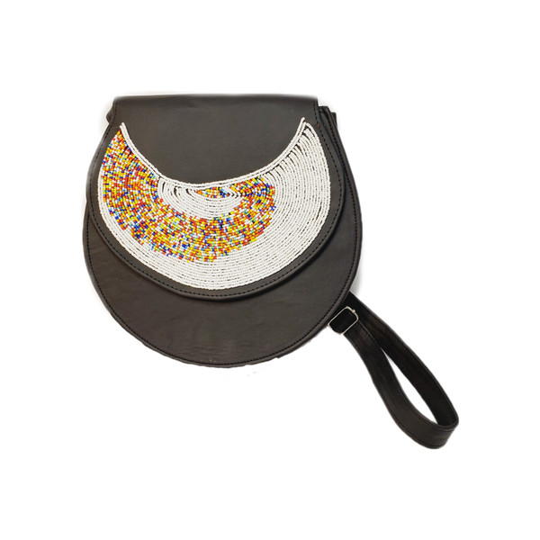 Round Beaded African Purse