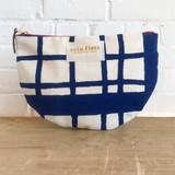 navy picnic large half moon bag