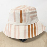 dusty pink grid  bucket hat