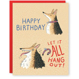 let it all hang out birthday card
