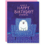 fur real  birthday card