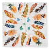 feathers in air napkins | set of 4