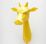 giraffe wall trophy   white