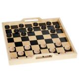 black square checkers tray