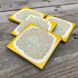 geode coaster set / lemon