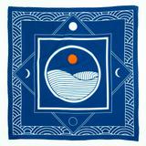 breaking waves bandana