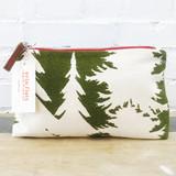 evergreen ashley pine makeup zipper bag