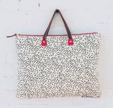 black dots folder bag
