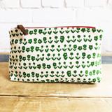 kelly green scandi makeup zipper bag