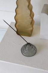 glass incense holder | gray