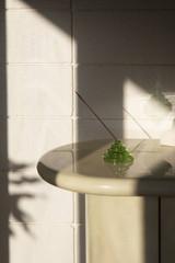 glass incense holder | green