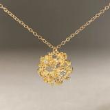 chrysanthemum diamond necklace