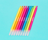 9 neon felt pens
