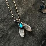 eye fly tourmaline necklace