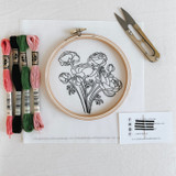 do-it-yourself embroidery kit, peony