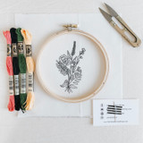do-it-yourself embroidery kit, wildflower