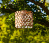 soji stella drum solar lantern/ copper