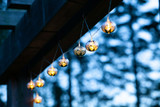 solar stringed lights marrakesh metal, silver droplets