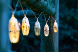 solar stringed lights, marrakesh metal, silver stars
