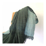 linen fringed throw