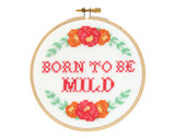 born to be mild cross stitch kit