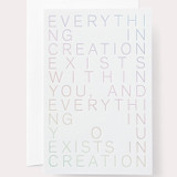 everything exists ... creation card